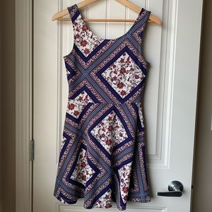 H&M Printed Fit & Flare Dress